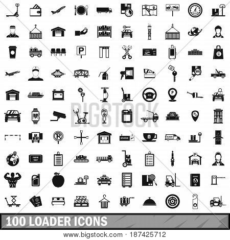 100 loader icons set in simple style for any design vector illustration