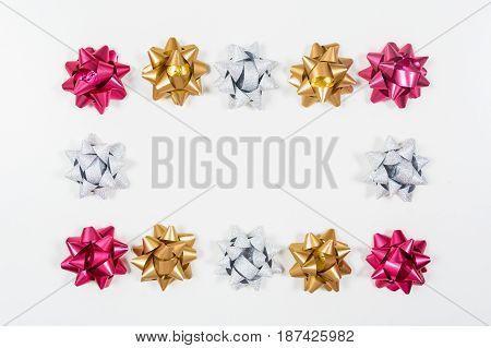 Frame Of Festive Bows