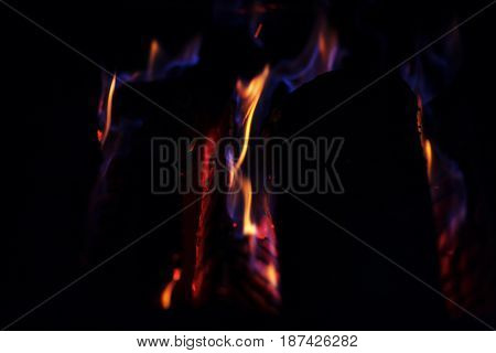 Fire. Background. Barbecue. The concept of nature.