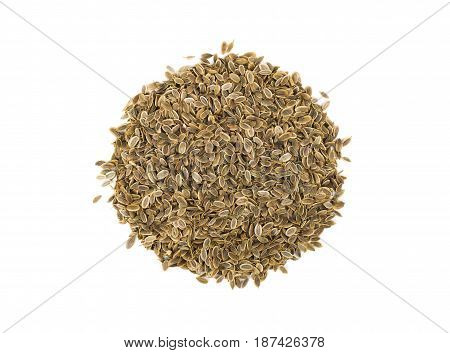 Heap dill seed isolated on white background