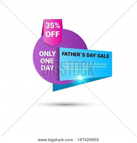 Happy Father Day Holiday Sale Shopping Discount Banner Vector Illustration