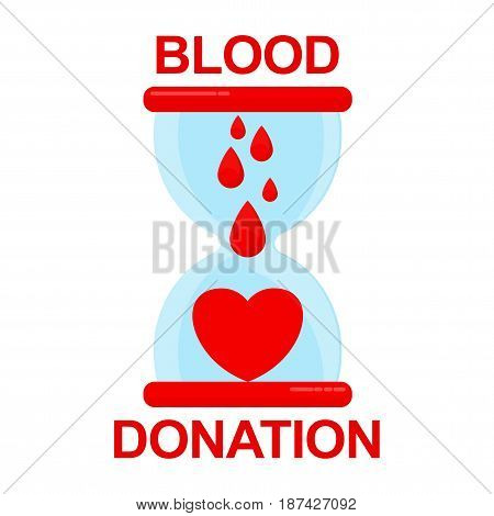 Donate Blood Hourglass