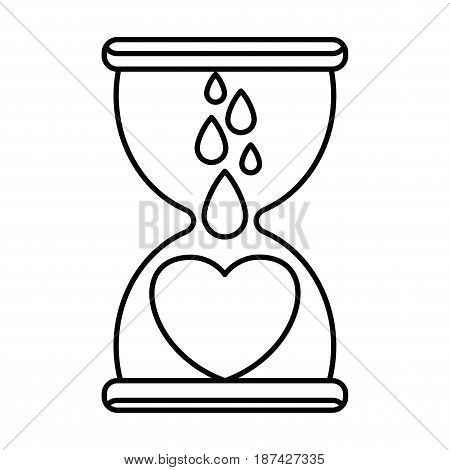 Donate Blood Hourglass Icon