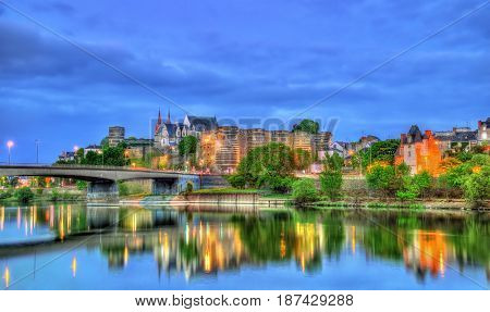 Angers Castle and the Maine River - France, Maine-et-Loire