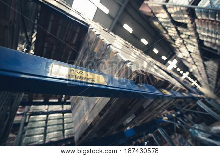 Storage Facility Building. Storing Logistic Inside the Warehouse