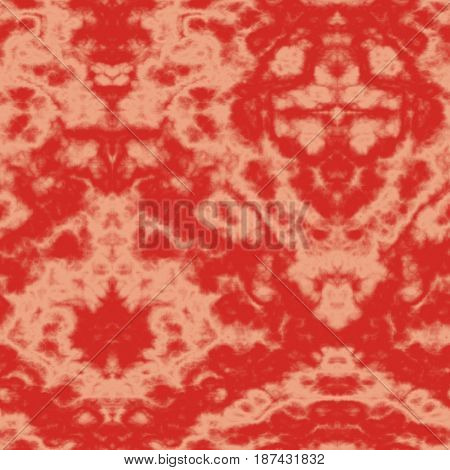 Seamless Abstract Pattern In Beige And Red Tones