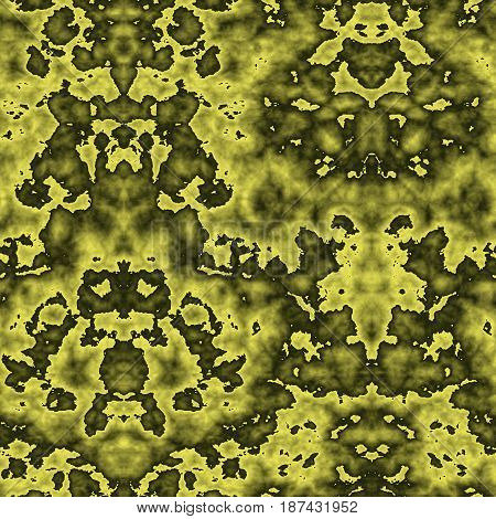 Seamless Abstract Pattern In Yellow And Black Tones