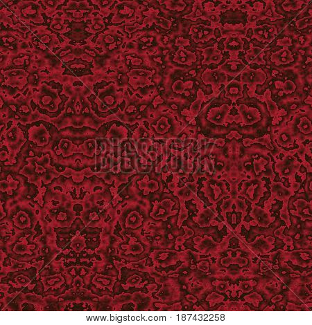 Seamless Abstract Pattern In Black And Red Tones