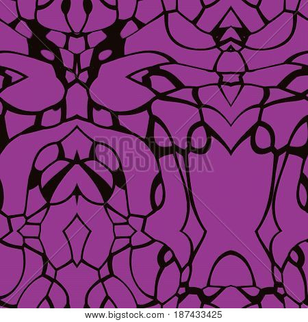 Seamless Abstract Pattern In Purple And Black Tones