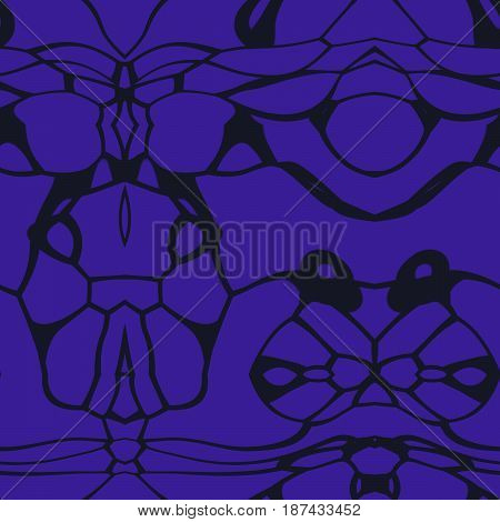 Seamless Abstract Pattern In Black And Navy Blue Tones