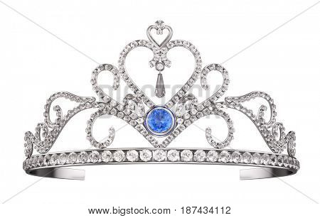Princess Diadem, Tiara isolated on white. 3d render