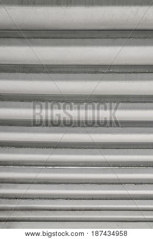 Background. Texture Of Metal Straight Horizontal Lines With Defects. Vertical Frame