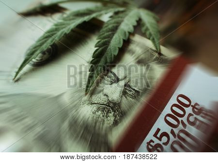 Marijuana Profits Zoom Burst High Quality Stock Photo