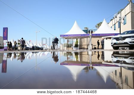CANNES, FRANCE - MAY 19: A general view of atmosphere on during the 70th Annual Cannes Film Festival  at Palais des Festivals on  19, 2017 in Cannes, France.