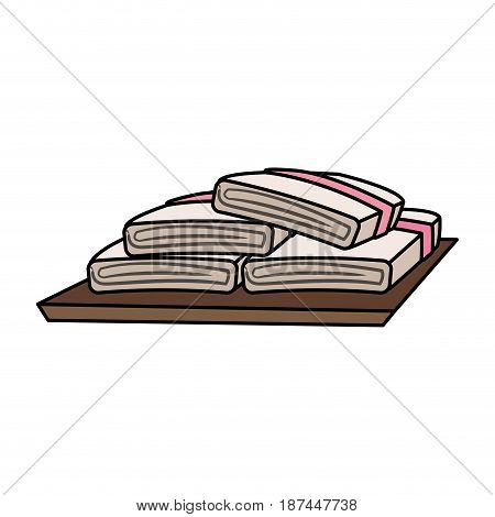 color image cartoon set of folded towels vector illustration