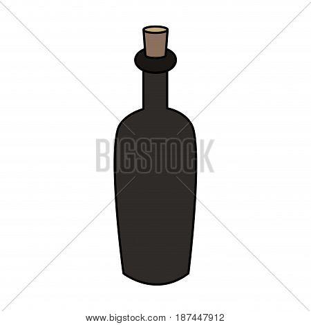 color image cartoon spa bottle with cork vector illustration