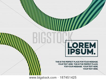Cover design template with abstract lines and shapes green color gradient style for magazine, brochure, catalog, flyer, poster, presentation, book etc. Vector Illustration