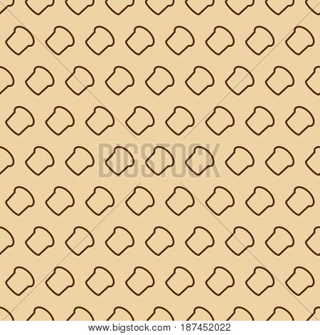 Bakery seamless pattern consisting of bread line style on yellow background for loaf store, cafe, cupcake firm, coffee shop, food market. Vector Illustration