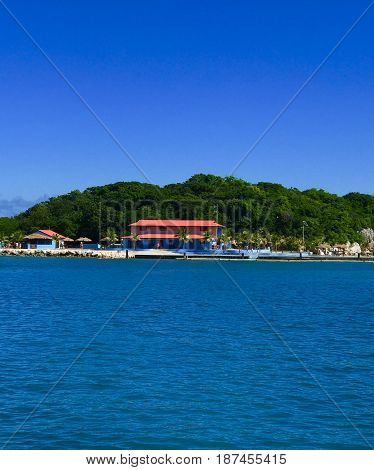 Labadee Haiti cruise port and entrance view.