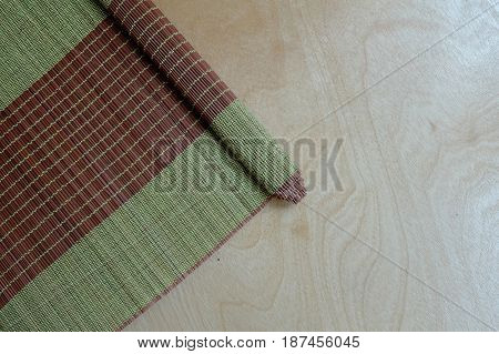 Bamboo mat plate, Colorful pattern, Bamboo texture, Blank space of bamboo mat, Japanese Bamboo plate