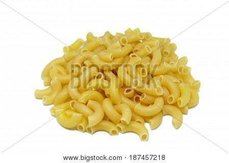 Macaroni for cooking isolate on white background