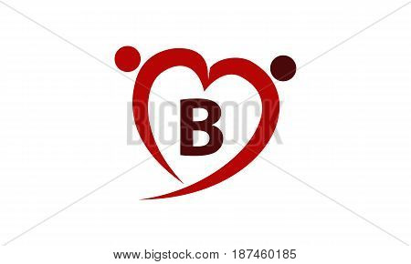 This image describe about Love Initial B