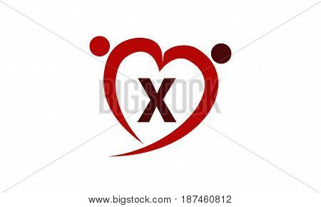 This image describe about Love Initial X