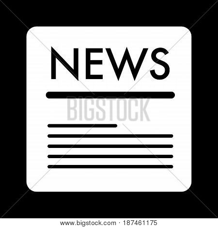 news vector icon. Black and white news illustration. Solid linear icon. eps 10