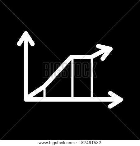 Chart vector icon. Black and white chart illustration. Outline inear schedule icon. eps 10