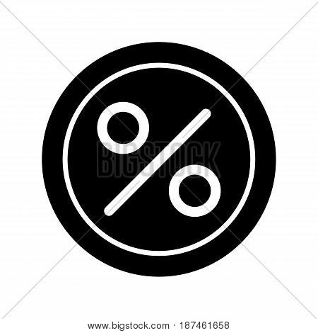 Circle Percent vector icon. Black and white finance illustration. Outline linear icon. eps 10