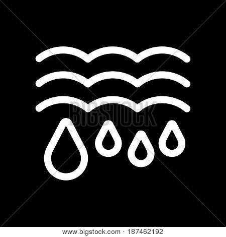 Water drops and waves icon. Falling drops Vector Illustration. thaw isolated on black. eps 10