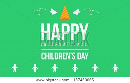 Childrens day background vector art collection stock