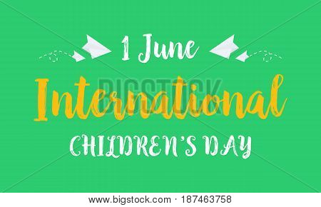 Collection background childrens day style vector illustration