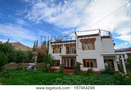 Tibetan House In Ladakh, India