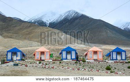 Tented Tourist Camp In Ladakh, India