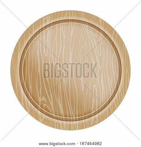 Rustic wooden surface icon vector illustration isolated on white background. Cutlery symbol, cafe or restaurant menu top view pictogram.