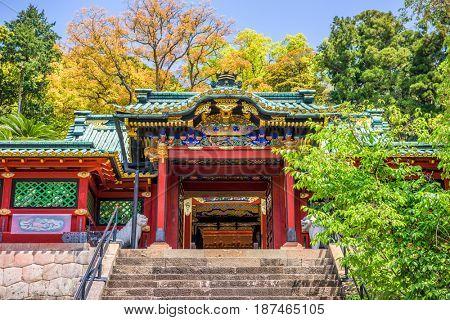 Shizuoka, Japan at Kunozan Toshogu Shrine.