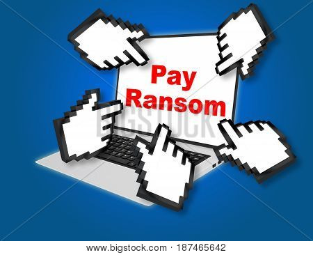 Pay Ransom Concept