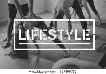 People Lifestyle Exercise Activity Word