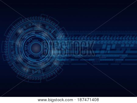 Abstract background digital business concept. Vector illustration tech circle and technology background.