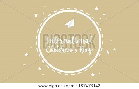 Collection greeting card childrens day vector art