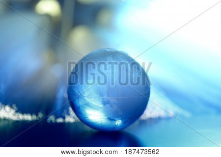 fiber optic with glass globe