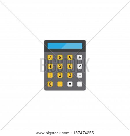 Flat Calculator Element. Vector Illustration Of Flat Accounting  Isolated On Clean Background. Can Be Used As Calculator, Accounting And Finance Symbols.