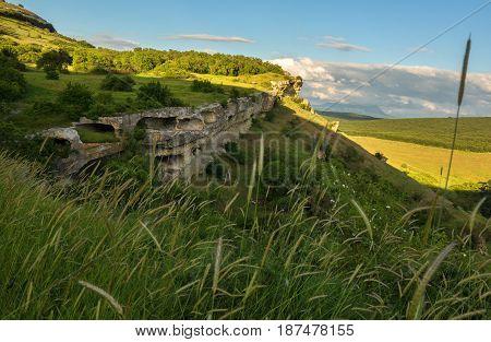 Cave city Bakla in the Bakhchysarai Raion, Crimea.