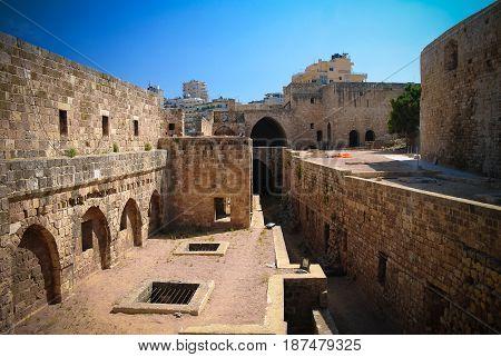 Panorama of Citadel of Raymond de Saint-Gilles aka Pilgrim Hill in Tripoli Lebanon