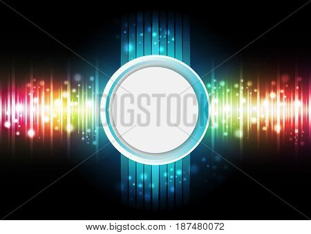 Technology digital background with sound frequency. Vector illustration.
