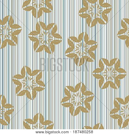 Modern stylish floral flower pattern for textile wallpaper pattern fills covers surface print gift wrap scrapbooking decoupage Seamless abstract classic pattern