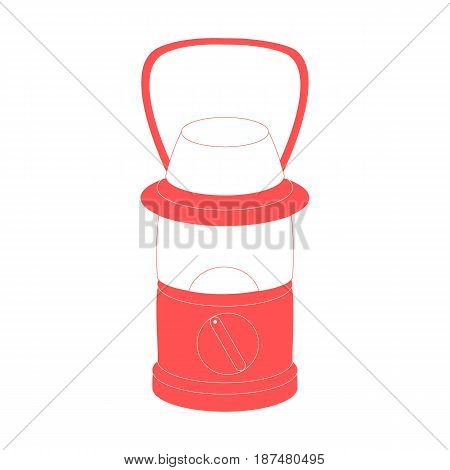 Stylized Icon Of A Colored Camping Light