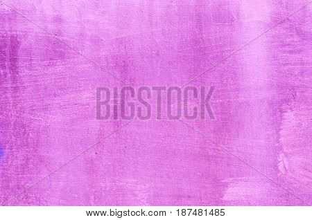 Background Of A Dark Pink Stucco Coated And Painted Exterior, Rough Cast Of Cement And Concrete Wall