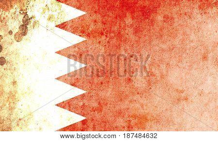 Bahrain flag grunge background. Background for design in country flag